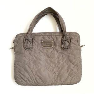 Marc Jacobs brown nylon iPad laptop carrier bag